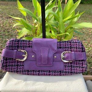 Purple Plaid Banana Republic Wool Clutch